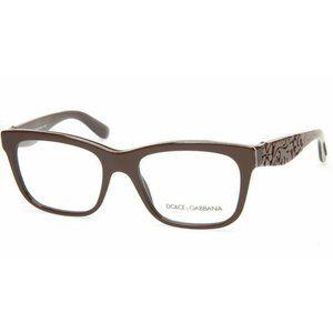 Dolce & Gabbana DG 3239 3002 Brown Eyeglasses 52mm